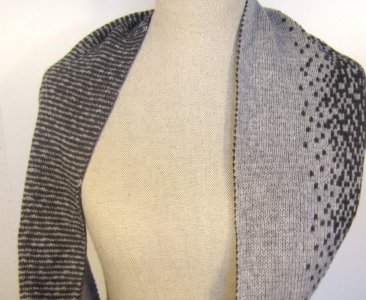 Ombre knit infinity Scarf