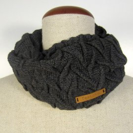 Thin braided infinity scarf