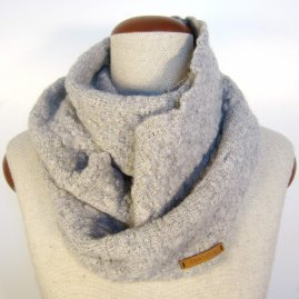 Felted infinity scarf